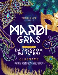 Mardi Gras Club Festival Template