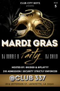 MARDI GRAS CLUB FLYER Poster template