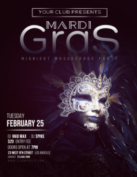 Mardi Gras Club Masquerade Party