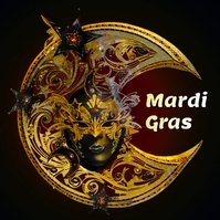 mardi gras Album Cover template