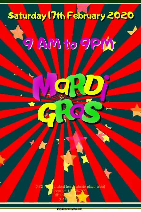 Mardi Gras โปสเตอร์ template