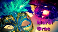 mardi gras Ecrã digital (16:9) template