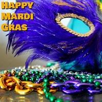 mardi gras Albumcover template