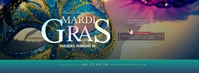 Mardi Gras Event Facebook Cover Photo template