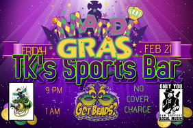 Purple Mardi Gras EVENT FLYER