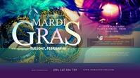 Mardi Gras Event Twitter Post Twitter-Beitrag template
