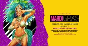 Mardi Gras Facebook Event Poster template