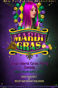 mardi gras fat tuesday masquerade parade party theme bar
