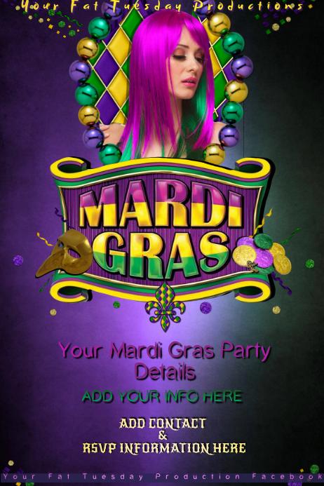 Mardi Gras Fat Tuesday Masquerade Parade Party Theme Bar