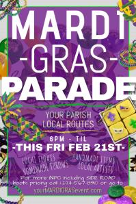 Mardi Gras Fat Tuesday Parade Festival Mask