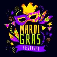 mardi gras festival Logo template