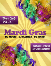 Mardi Gras Flyer, Carnival, Masquerade