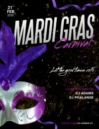 Mardi Gras Flyer Design Template
