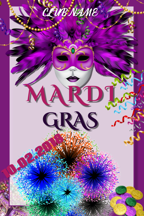 Customizable Design Templates For Mardi Gras Flyer Postermywall