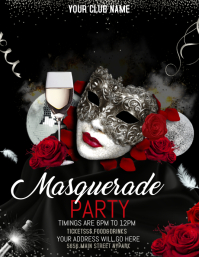 mardi gras flyers,masquerade party flyers template
