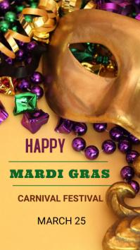 Mardi Gras flyers Instagram Story template
