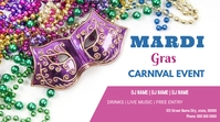 Mardi Gras flyers Digitalanzeige (16:9) template