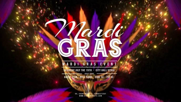Mardi Gras - Flying Carnaval Masks 2