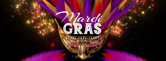 Mardi Gras - Flying Carnaval Masks 2 template