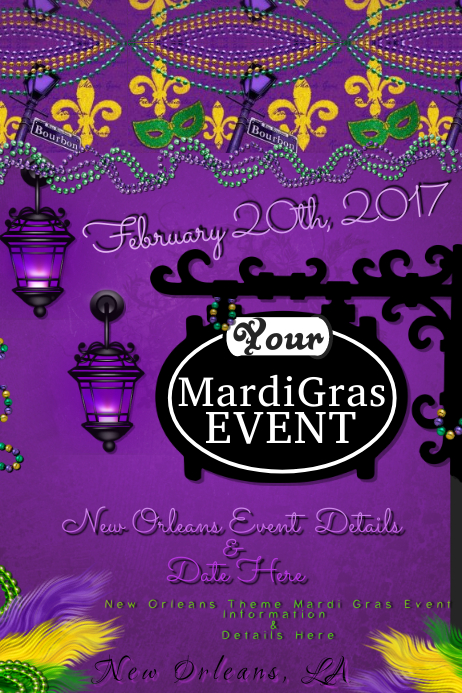 Mardi Gras French Quarter New Orleans Fat Tuesday Party Bar