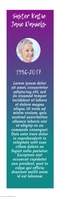 Mardi Gras Funeral Keepsake Bookmark