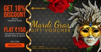 Mardi Gras Gift Voucher 2021 Template Facebook Shared Image