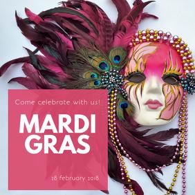 Mardi Gras Instagram Party Template