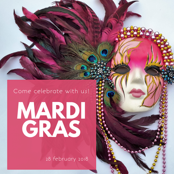 Mardi Gras Instagram Party Template