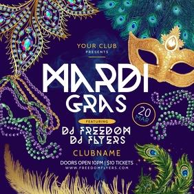 Mardi Gras Instagram Template