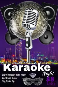 Mardi Gras Karaoke Night Poster