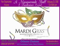 Mardi Gras Masquerade Ball Video Template