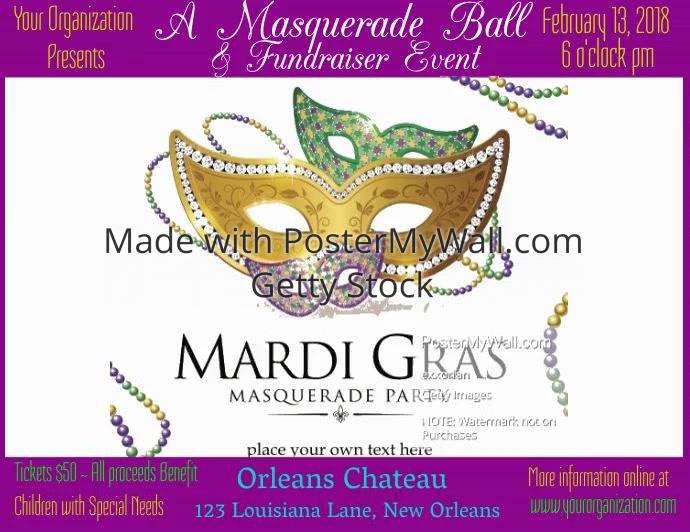 Mardi Gras Masquerade Ball Video Template