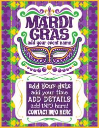Mardi Gras Masquerade Fat Tuesday Parade Schedule Promo