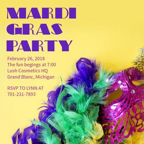 Mardi Gras Masquerade Party Template