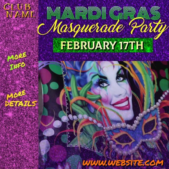Mardi Gras Masquerade Poster
