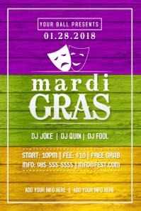Mardi Gras Masquerade Venetian Mask Fat Tuesday Gold Party