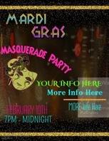 Mardi Gras/Masquerade Video Flyer