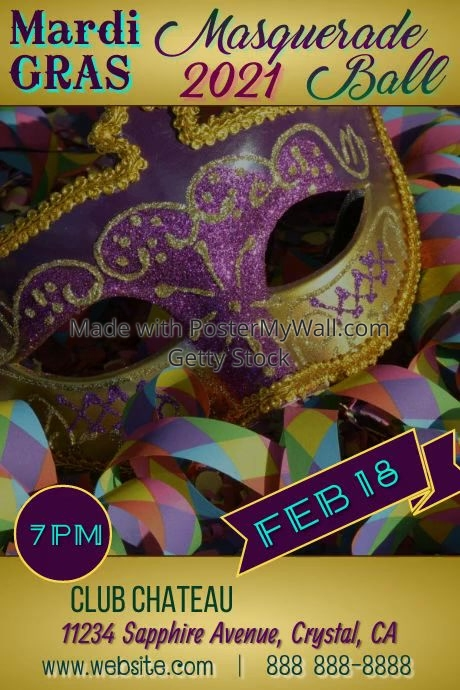 Mardi Gras Masquerade Video Poster