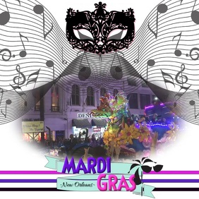 Mardi Gras/New Orleans/ Party/Parade Vierkant (1:1) template