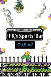 Mardi Gras New Orleans Street Sign Poster