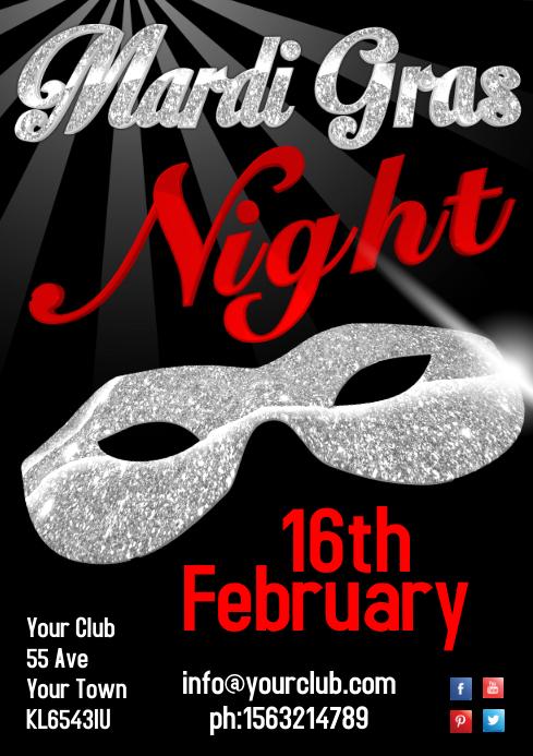 Mardi Gras Night Poster