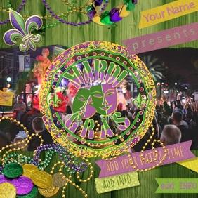 Mardi Gras Parade Bead Ad Fat Tuesday Fleur