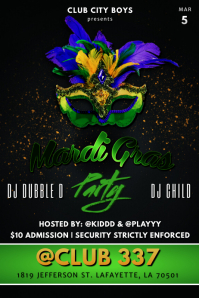 MARDI GRAS PARTY CLUB FLYER TEMPLATE