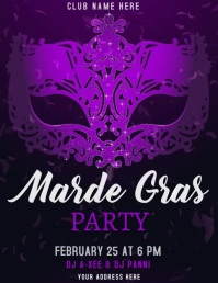 Mardi Gras Party Flyer (US Letter) template