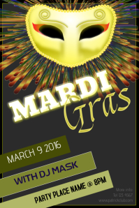 mardi gras party event club poster template