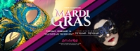 Mardi Gras Party Facebook Cover Photo template