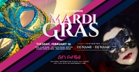 Mardi Gras Party Facebook Shared Image template