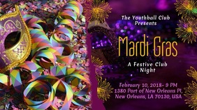 Mardi Gras Party Invitation Display