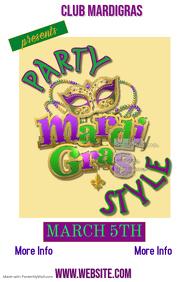 Mardi Gras Party Poster