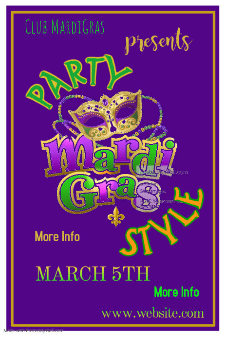 Mardi Gras Party Poster
